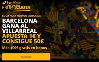 betfair supercuota Liga Barcelona vs Villarreal 27 septiembre 2020