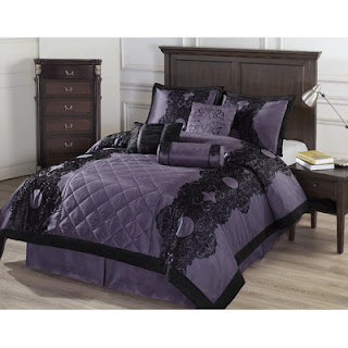 Purple bedroom ideas: Victoria comforter set