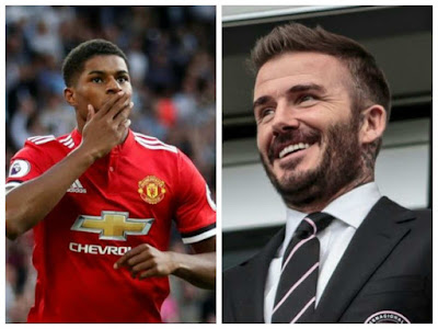 """""""I Didn't Realized I've Scored That Many"""" - Beckham Replies Rashford Over Matching His United Goal Record"""