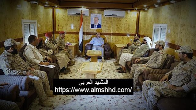 اجتماع عسكري طارئ في مأرب ورسالة نارية من الجنرال علي محسن الأحمر