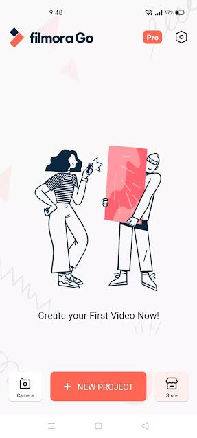 FilmoraGo App User Interface
