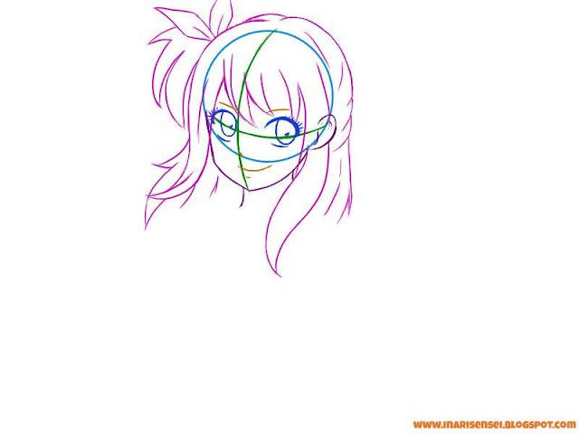 dessiner facilement lucy de fairy tail les détails du visage