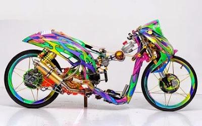 Cara membuat motor drag tercepat, foto motor drag