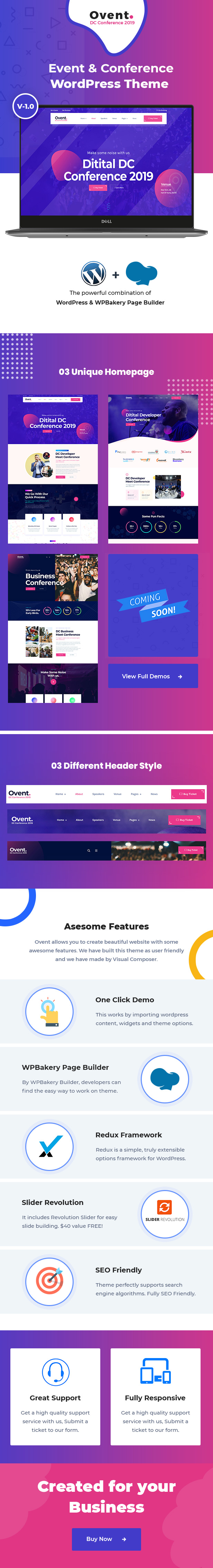 Ovent WordPress Theme Review