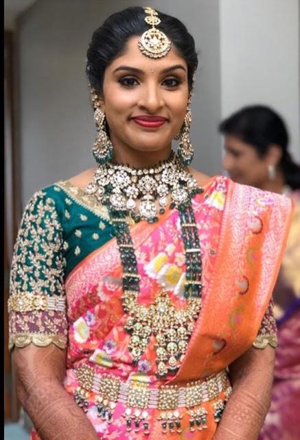 Bride in Emerald Beads Haram