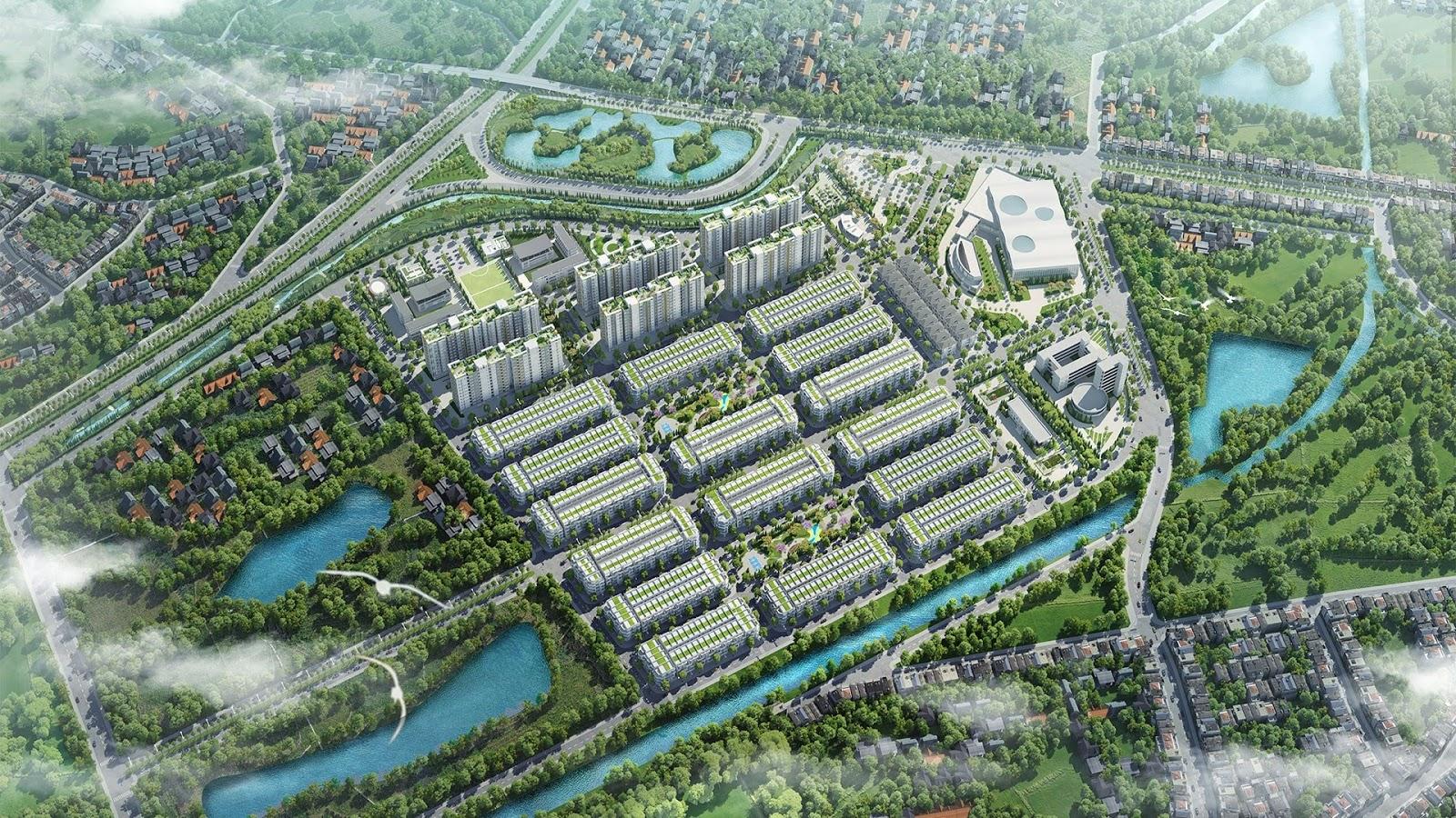 Phối cảnh dự án Him Lam Green Park, Đại Phúc, Bắc Ninh