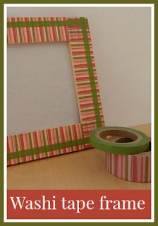Simple washi tape frame craft