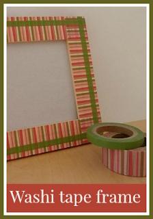Simple washi tape frame craft