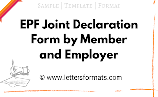 joint declaration by the member and the employer sample