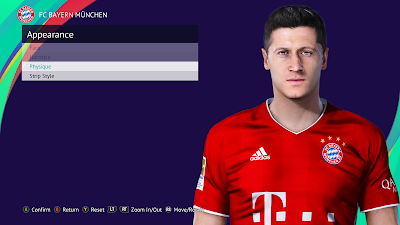 PES 2021 Faces Robert Lewandowski