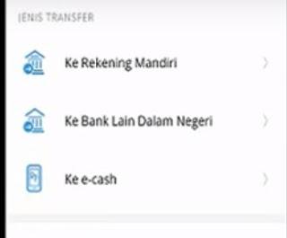 Gambar 3 cara Transfer pakai mandiri online