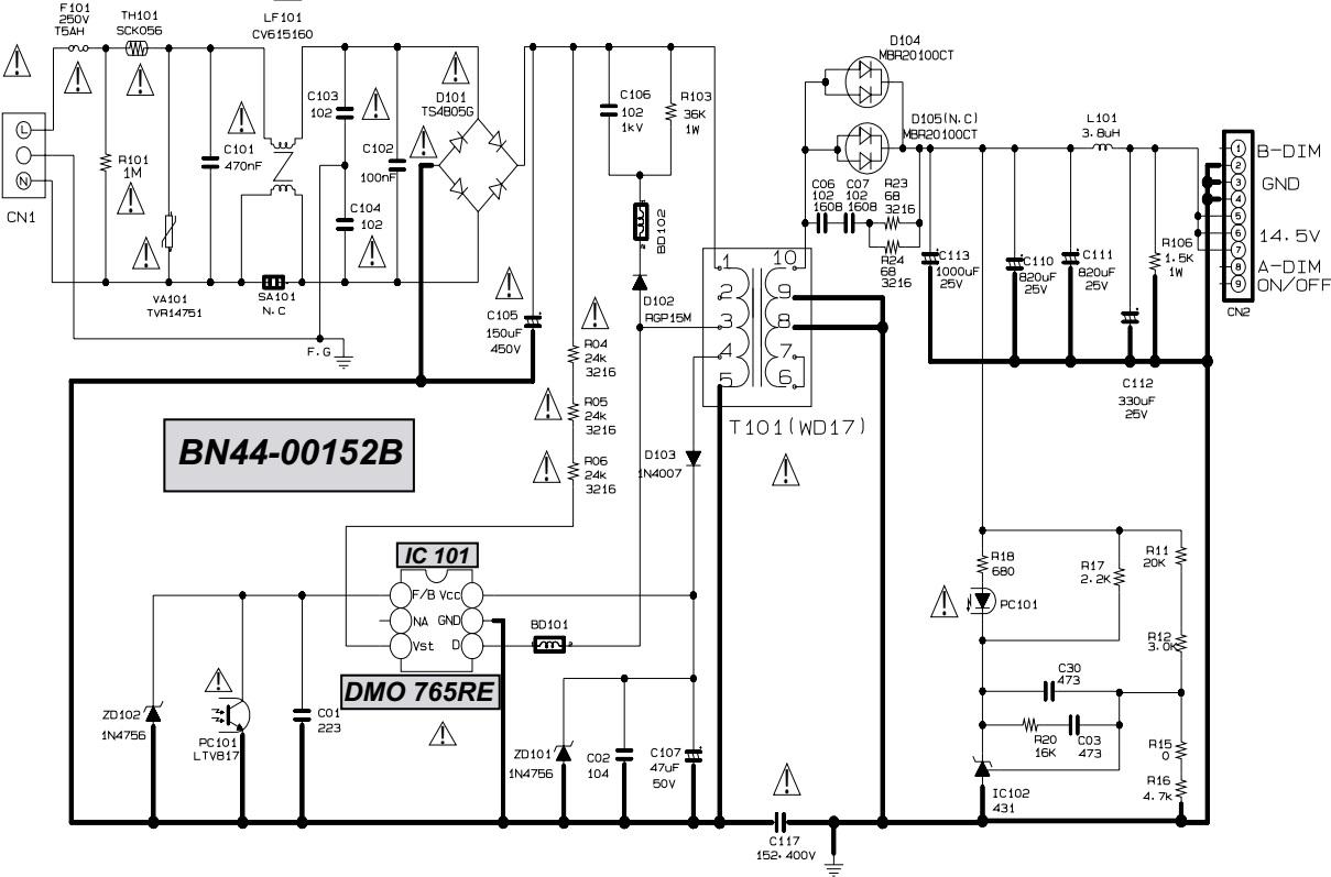 schematic diagram le32r87bd