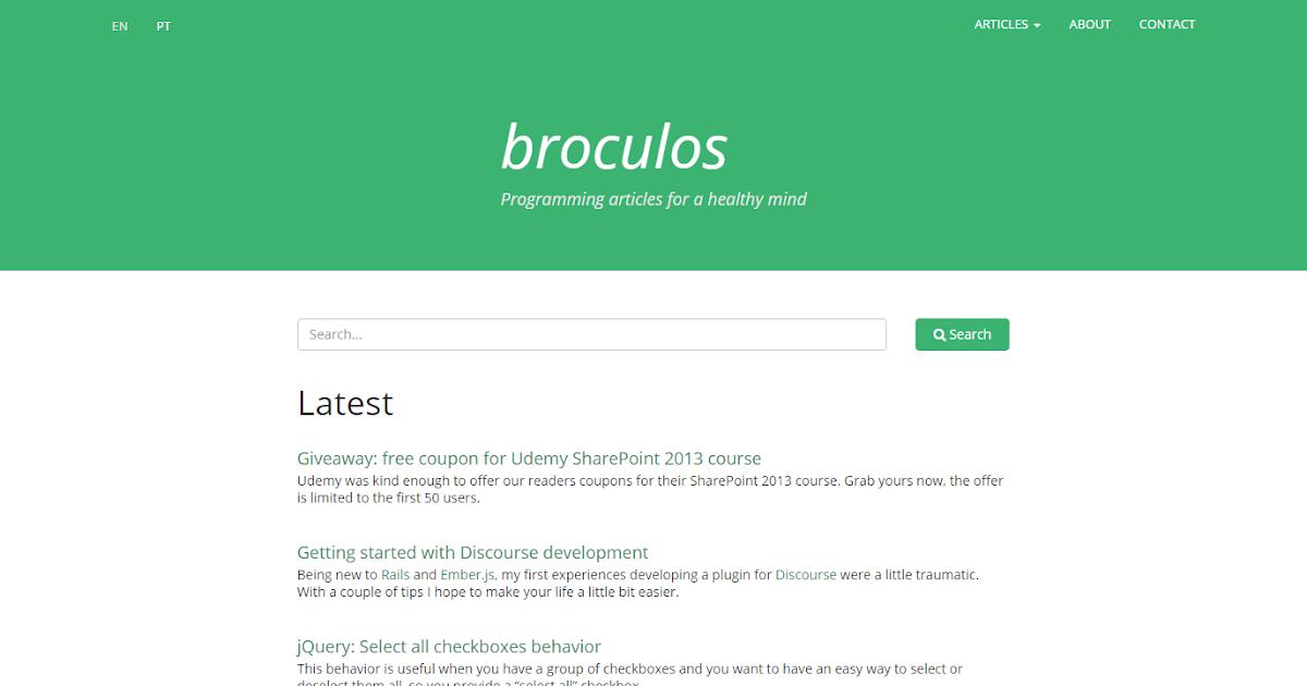 New Design for Broculos