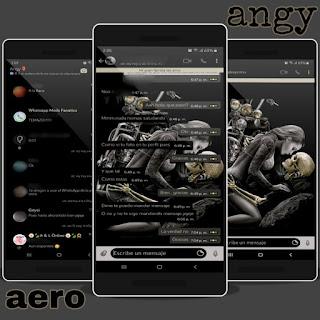 Skull & Girls Sex Theme For YOWhatsApp & Fouad WhatsApp By angy fénix