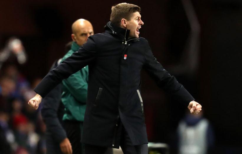 Glasglow Rangers manager Steven Gerrard