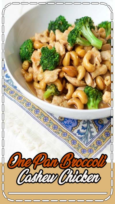 One Pan Broccoli Cashew Chicken whips up in 15 minutes and is so easy to make. This delicious, 10 ingredient, full of flavor meal is easy on the budget too!