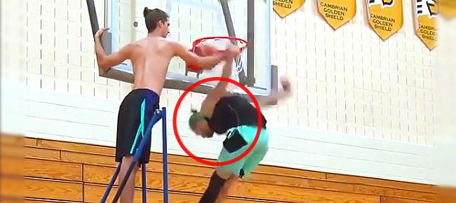 Jordan Kilganon's INSANE Upside Down Dunk (VIDEO)
