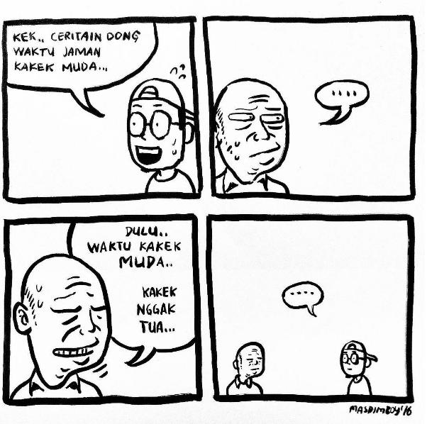 Contoh Komik Lucu Yang Mudah Digambar