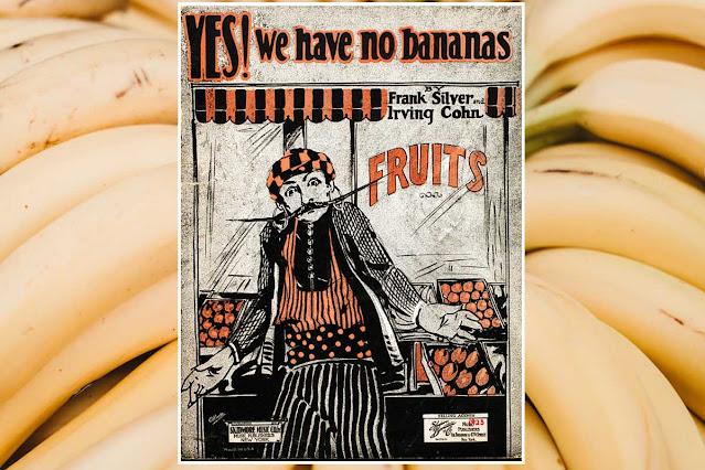 lagu tentang pisang, pisang menginspirasi perjuangan, yes we have no banana, pisang, belfast, amerika serikat