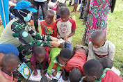 Hari Buku Anak Sedunia, Srikandi Satgas BGC Gelar Perpustakaan Keliling