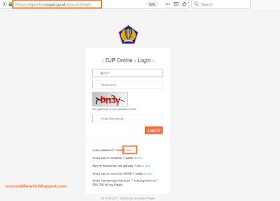 cara pengisian pajak online di djp online