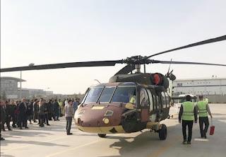 T-70 genel maksat helikopteri TUSAŞ hangarından çıkış yaptı.