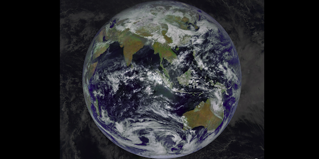A composite image from the Fengyun-4A geostationary weather satellite. (Photo: CNSA)