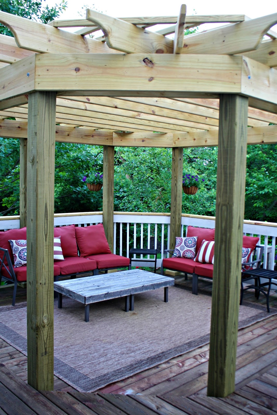our beautiful outdoor dining room from thrifty decor
