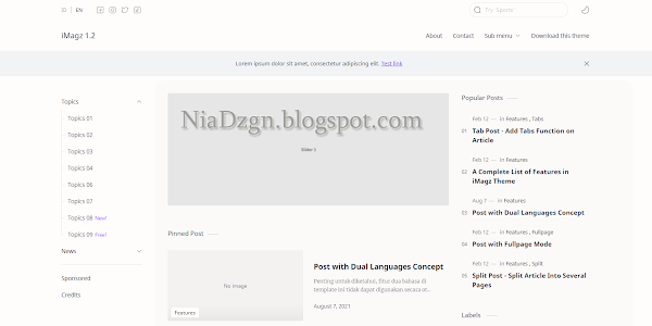 Free Download Imagzz 1.2 Responsive Blogger Template (standard Version)