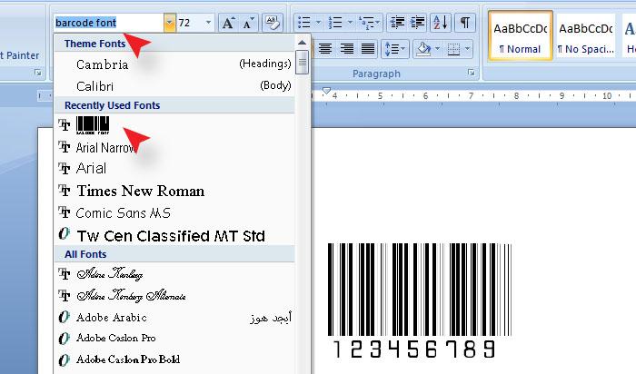 Cara Membuat Barcode Di MS Word 2007 - 2010 Paling Mudah