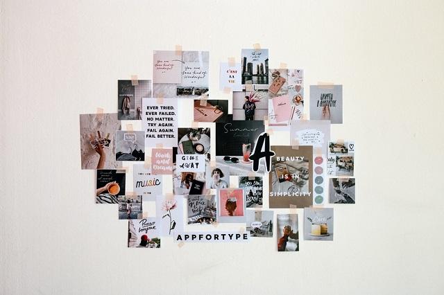 Collage degli obiettivi dell'anno