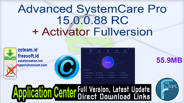 Advanced SystemCare Pro 15.0.0.88 RC + Activator Fullversion