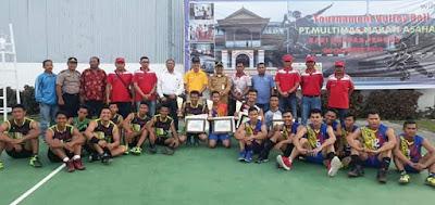 Wakil Bupati Batubara Saksikan Final Turnamen Volly