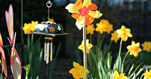 DIY: Spring-Inspired Garden Pinwheel and Wind Chime Using Upcycled Chick-Fil-A Soup Container