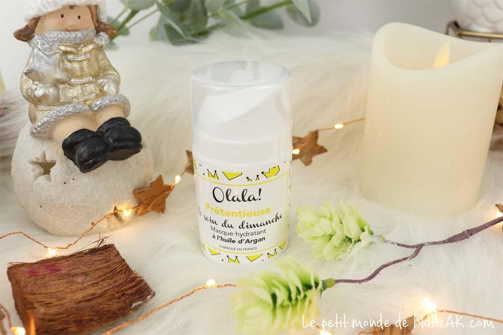 masque hydratant à l'huile d'argan bio Olala