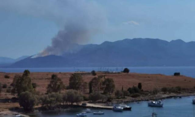 Ενισχύθηκαν οι δυνάμεις στα Μέθανα - Εκκενώθηκε η κοινότητα Κυψέλης