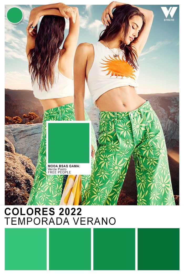 Paleta de colores moda primavera verano 2022