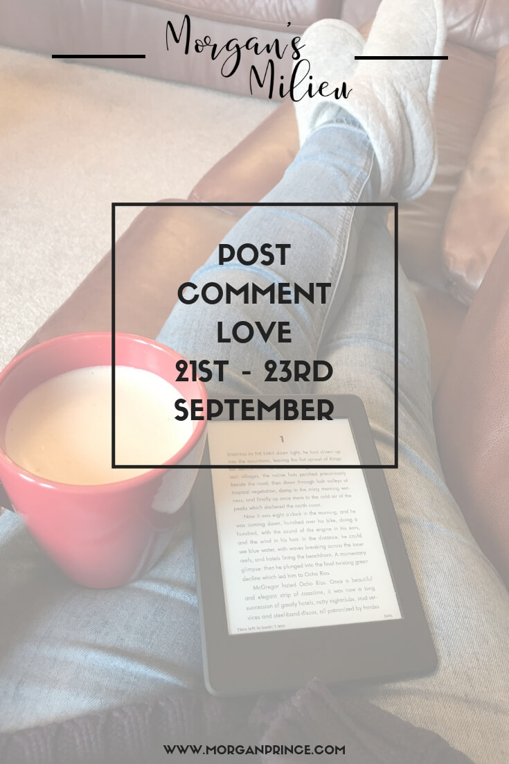 Join Stephanie and me for Post Comment Love - link up your best or favourite post of the week!