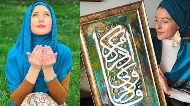 فنانة أمريكية اعتنقت الإسلام تقلّد المنشاوي بإتقان .......شاهد