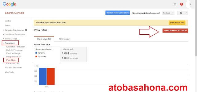 Peta Situs Terbaru Blog Untuk Ditambahkan ke Search Console (Webmaster Tools)