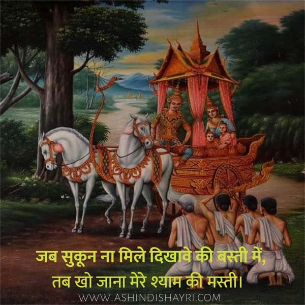 shree krishna status in hindi, shree krishna quotes in hindi, radhe - krishna status