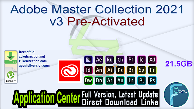 Adobe Master Collection 2021 v3 Pre-Activated