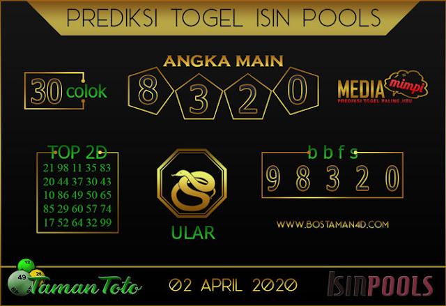 Prediksi Togel ISIN TAMAN TOTO 02 APRIL 2020