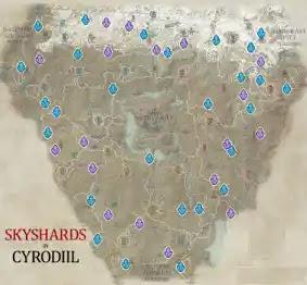 Cyrodiil Skyshards Location Map The Elder Scrolls Online (ESO)
