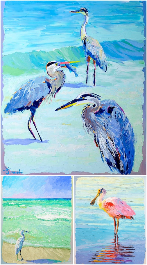 Florida Shore Bird Art Prints