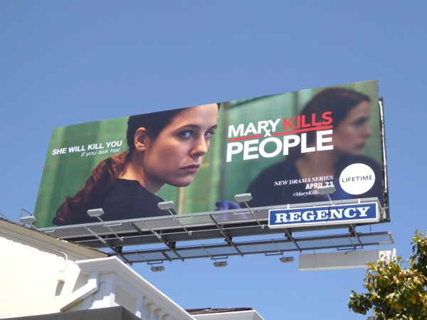Mary Kills People Lifetime series billboard