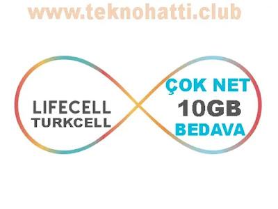 Lifecell Coknet 10GB Bedava İnternet - 2019