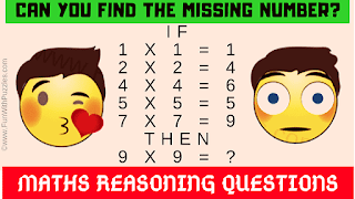 Can you find the missing number? If 1 x 1 = 1, 2 x 2 = 4 ,4 x 4 = 6, 5 x 5 = 5, 7 x 7 = 9 Then 9 x 9 = ?