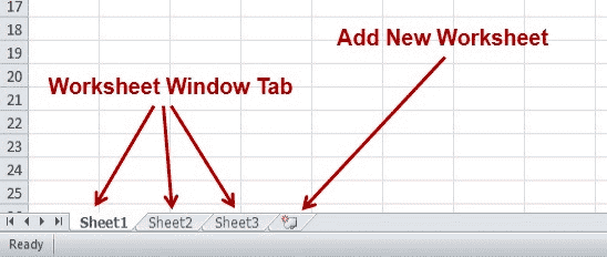 Worksheet Window Tab