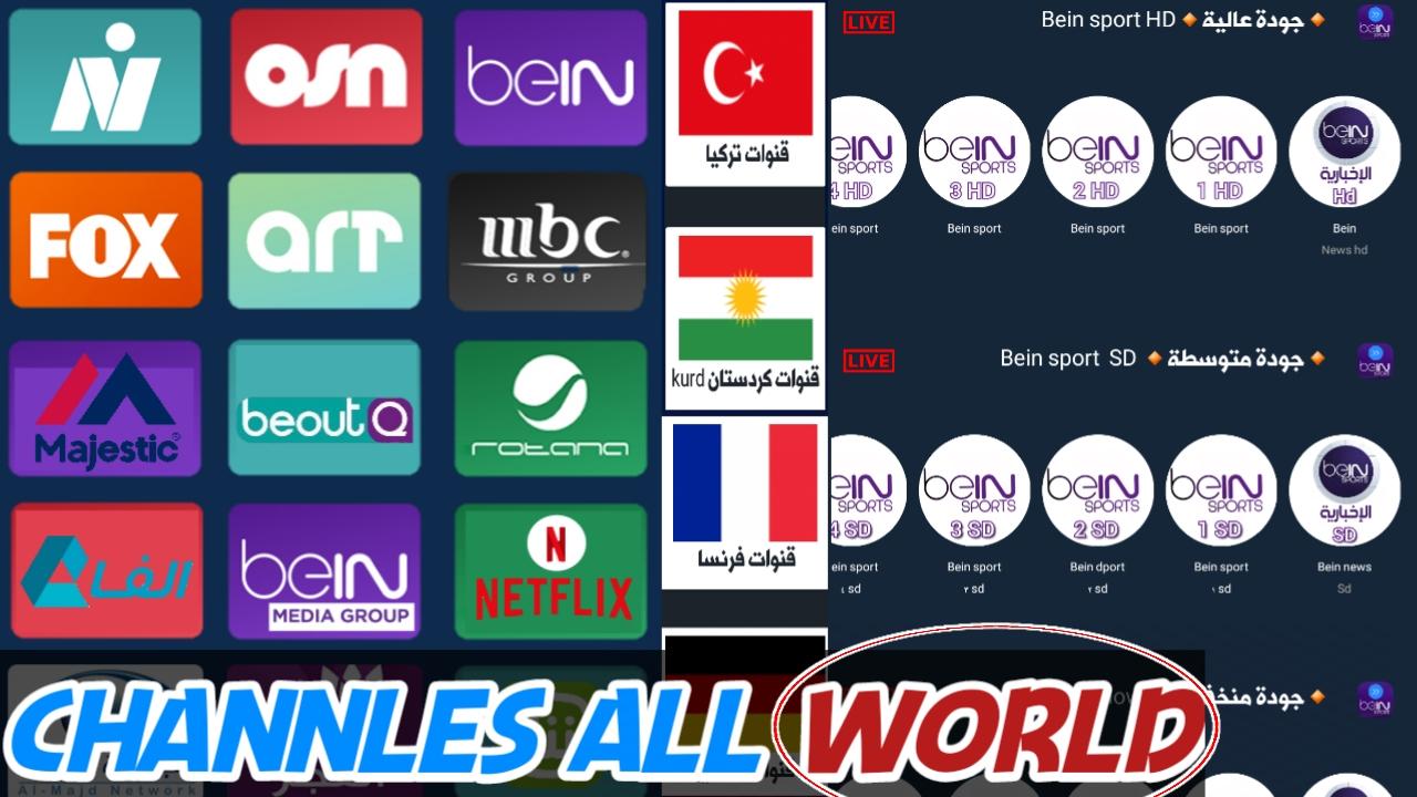 شاهد الان قنوات عربية واجنبية من مختلف السرفرات بدون انقطاعات مجانا/Tv-Plus+
